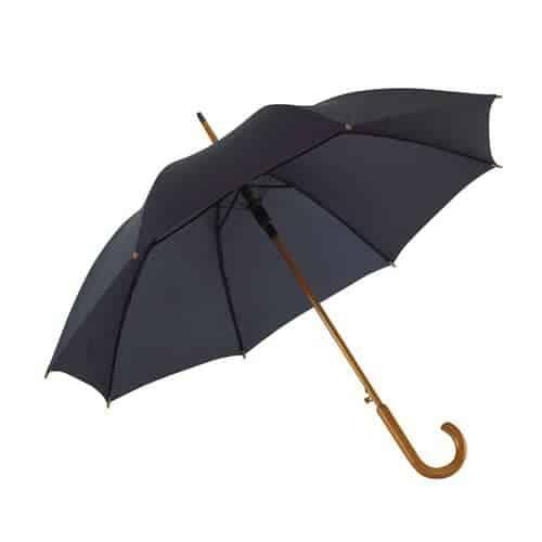Blå paraply træhåndtag 103 diameter billig her - Buddy