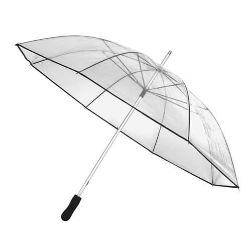 Stor gennemsigtig paraply lige skaft billigst her - Obelisk
