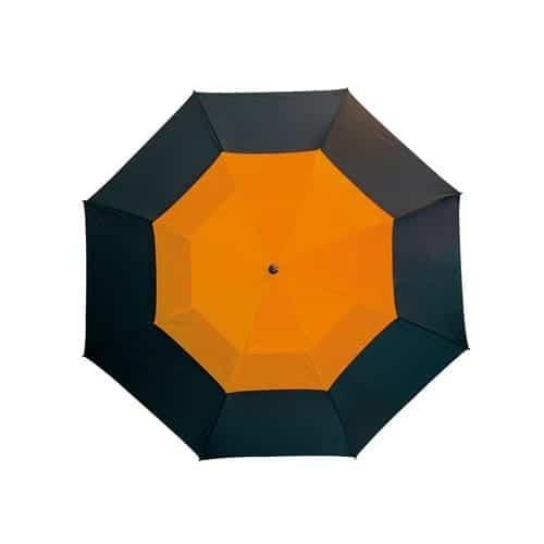Golfparaply orange dobbelt skærm lige skaft - Herkules