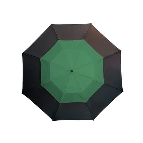 Stor grøn paraply dobbelt skærm lige håndtag - Herkules