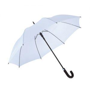 Stor hvid paraply