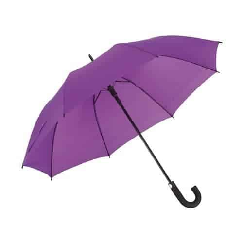 Lavendel paraply diameter 119 cm buet sort håndtag - Luna