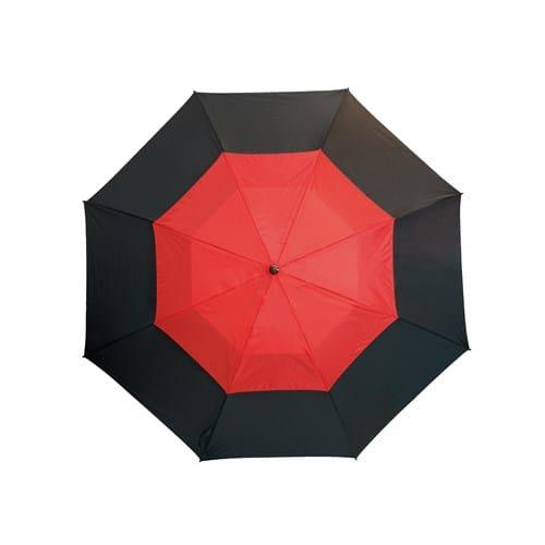 Stor rød paraply med dobbelt skærm 132 cm - Herkules