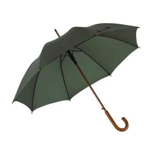 Grøn paraply træhåndtag i 8 forskellige farver - Buddy
