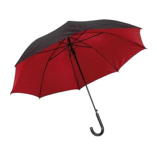 Dobbelt paraply rød og sort på toppen - Barcelona