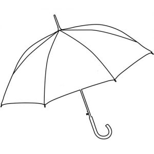 Paraply beige
