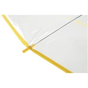 Transparent gul paraply