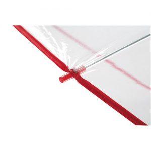 gennemsigtig paraply rød