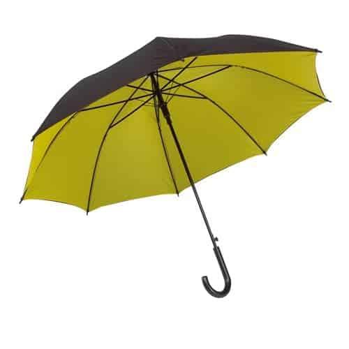 Gul dobbelt paraply gul & sort på toppen - Barcelona