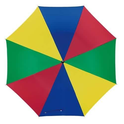 Multifarvede paraply stor diameter på 103 cm - Disco