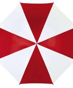 Rød og hvid paraply