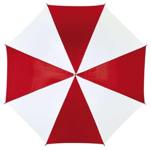 Rød og hvid paraply stor diameter 103 cm - Disco