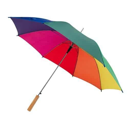 Regnbue paraply - 8 forskellige flotte farver - Felix