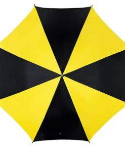 sort og gul paraply