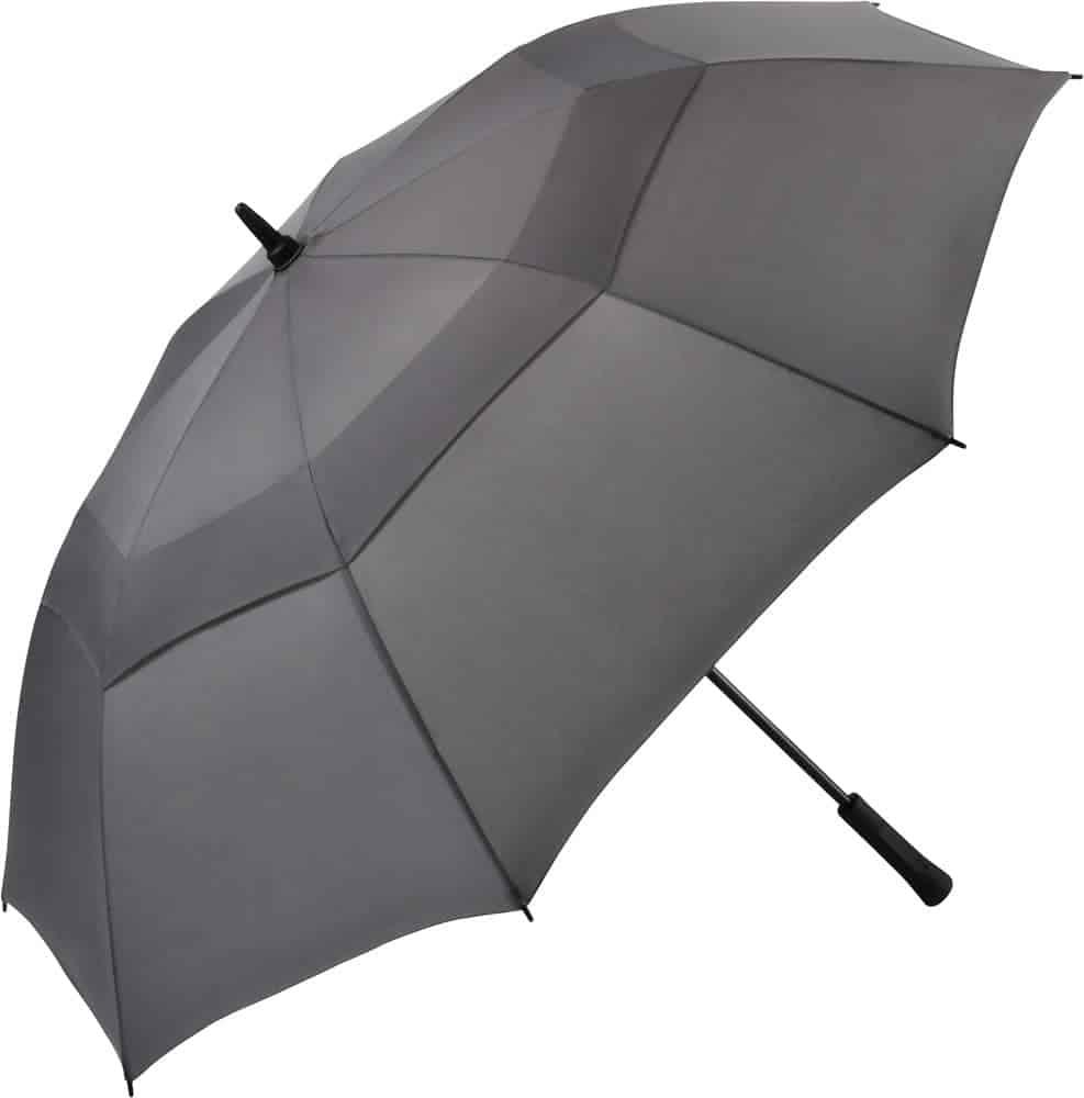 Stor grå golfparaply manuelt betjent 130 cm - Vincent