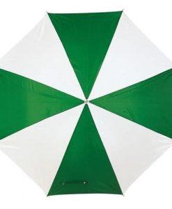 grøn & hvid paraply