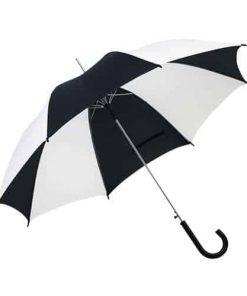 sort & hvid paraply