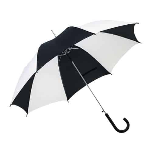 Sort & hvid paraply købes her hurtig levering - Disco