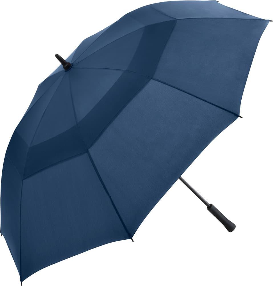 Stor blå golfparaply med glasfiberskaft - Vincent