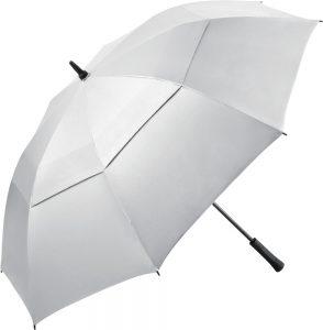 stor hvid golfparaply