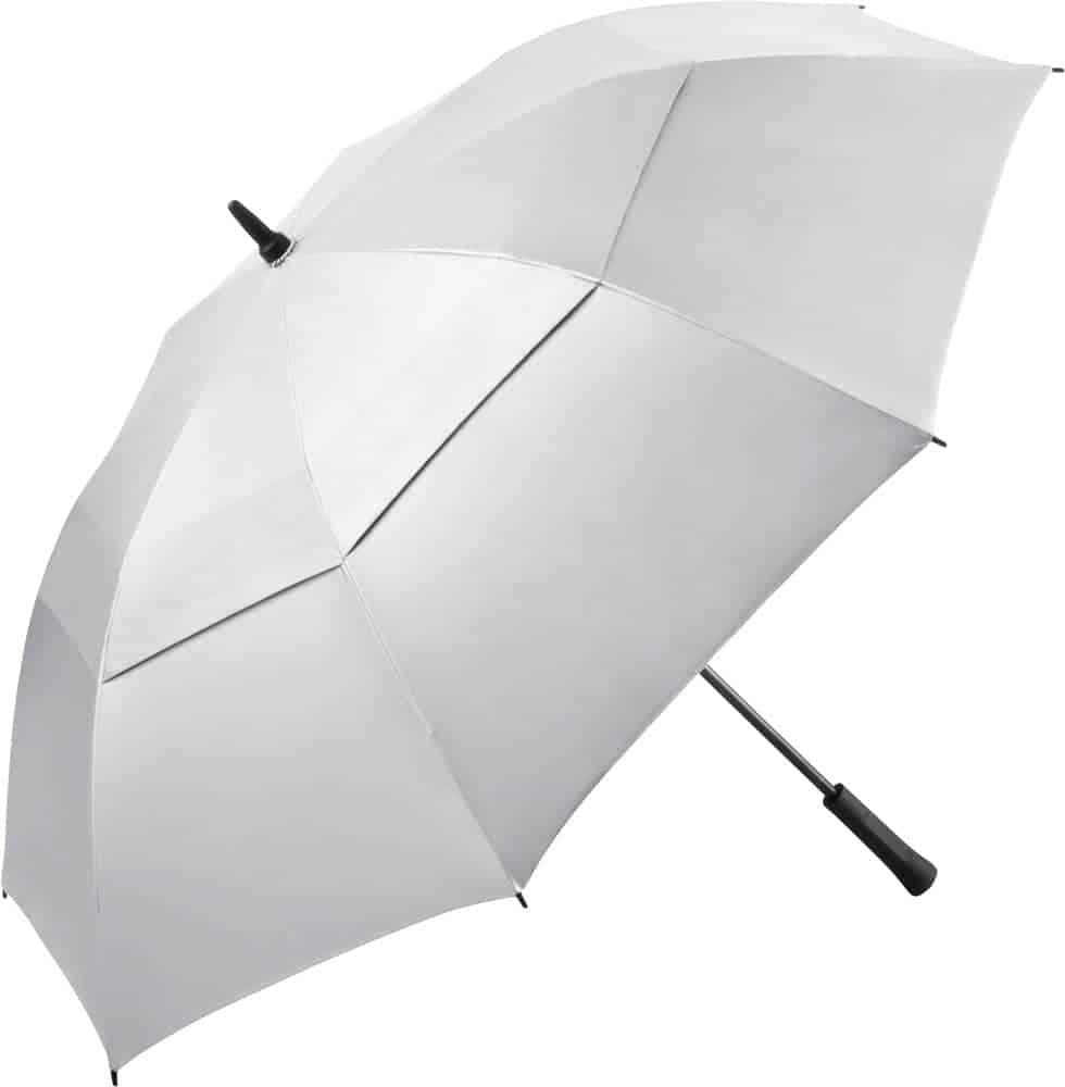 Køb stor sølv golfparaply med dobbelt skærm - Vincent