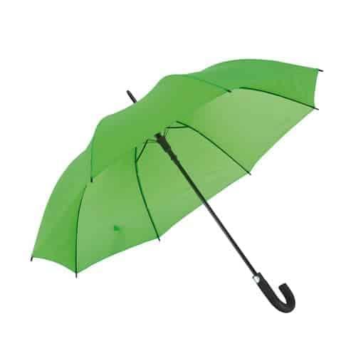 Lysegrøn paraply med sort håndtag 119 cm diameter - Luna