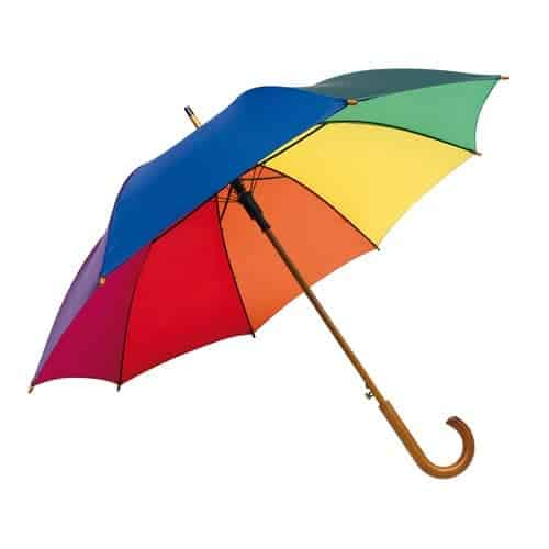 Automatisk regnbue paraply - Multifarvede paraply