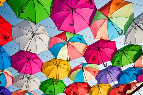 stok regnbueparaply