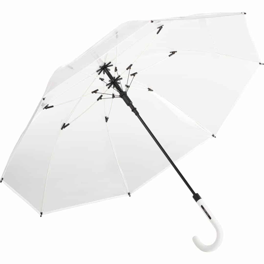 Hvid gennemsigtig paraply stor diameter - Nevada