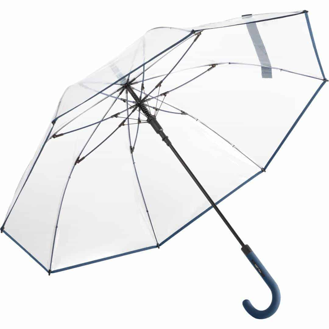 Paraply transparent marine blå farve - Nevada