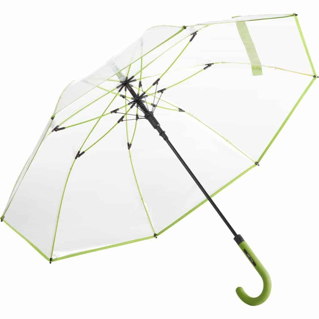 Stor transparent lime paraply diameter 105 cm - Nevada