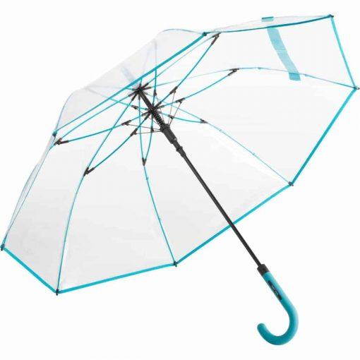 Transparent paraply m. petrol farve