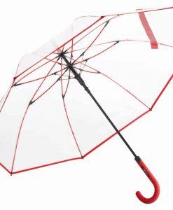 gennemsigtig rød paraply