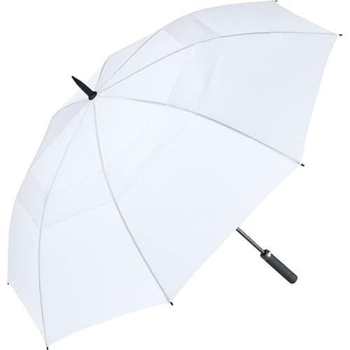 Hvid golf paraply med stor skærm på 133 cm - Nicholas