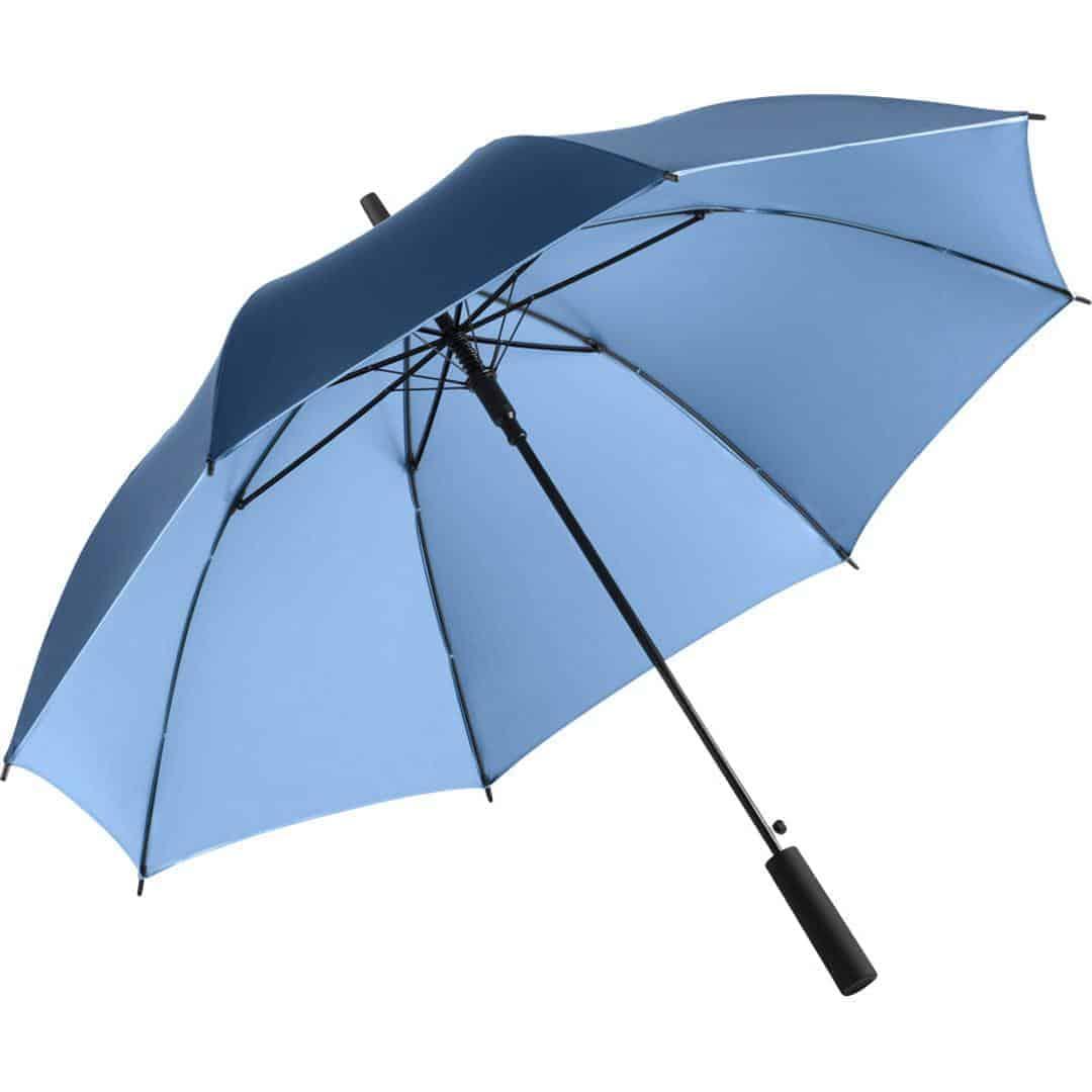 Lyse blå luksus paraply 2 farvet skærm - Luxury