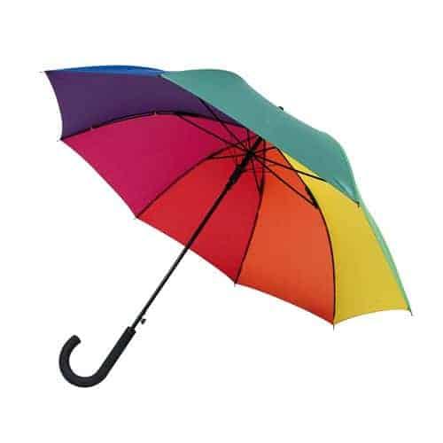 Pride regnbue paraply med stor skærm - Maggie
