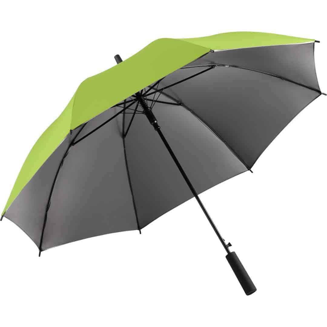 Lime farvet luksus paraply 2 farvet skærm - Luxury