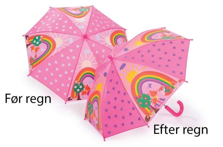 lyserød paraply til børn