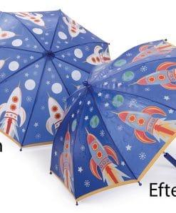 paraply til børn blå