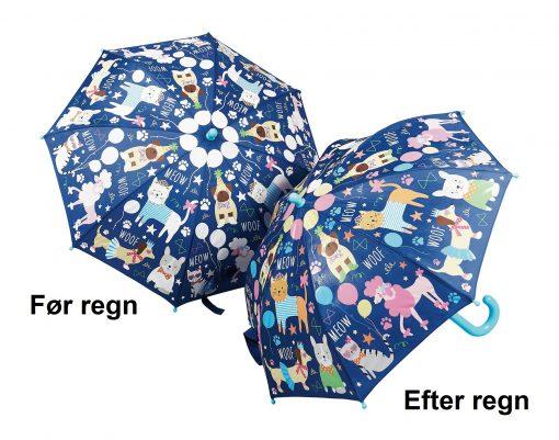paraply til børn med kæledyr