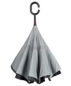 grå omvendt paraply