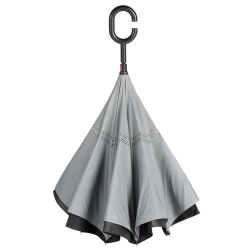 Grå omvendt paraply en moderne paraply - Emma