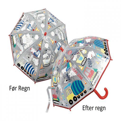 børne paraply farve skiftende