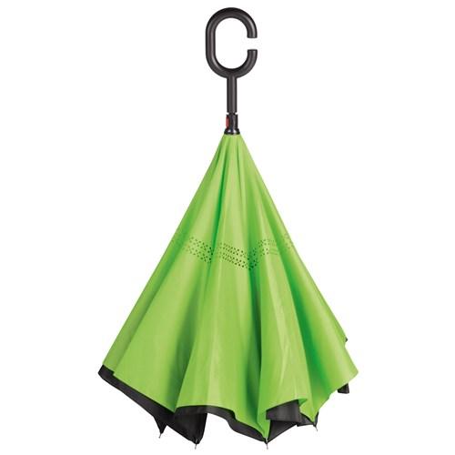 Lime grøn omvendt paraply frit leveret til pakkeshop - Emma