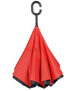 omvendt paraply rød
