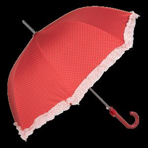Retro rød paraply