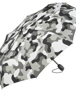 Grå camouflage taskeparaply
