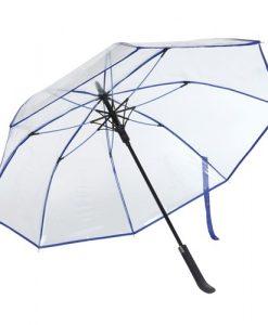 Blå gennemsigtig paraply
