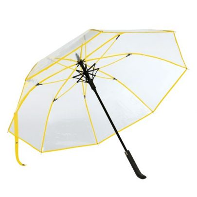 Gul transparent paraply
