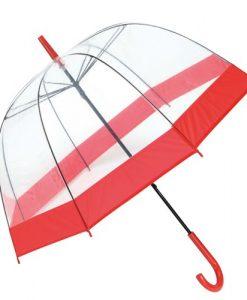 rød gennemsigtig paraply